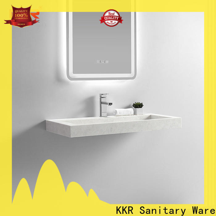 KingKonree wall hung vanity basin sink for toilet