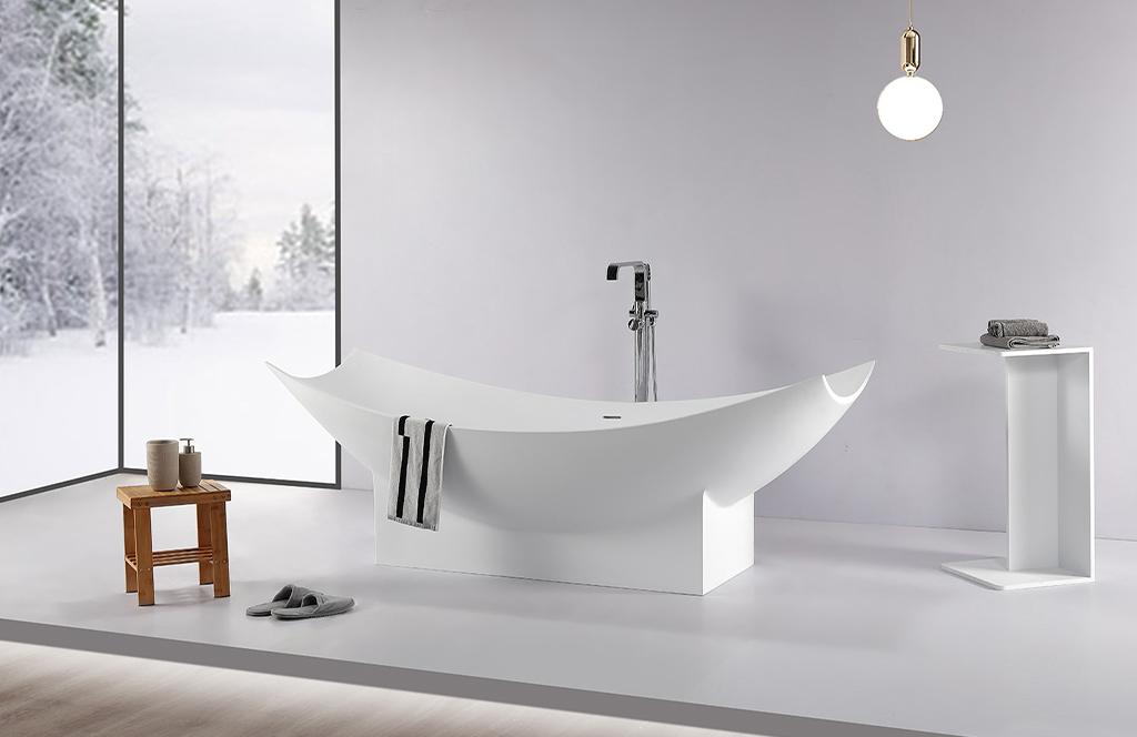 KingKonree reliable stone resin freestanding bath custom-1