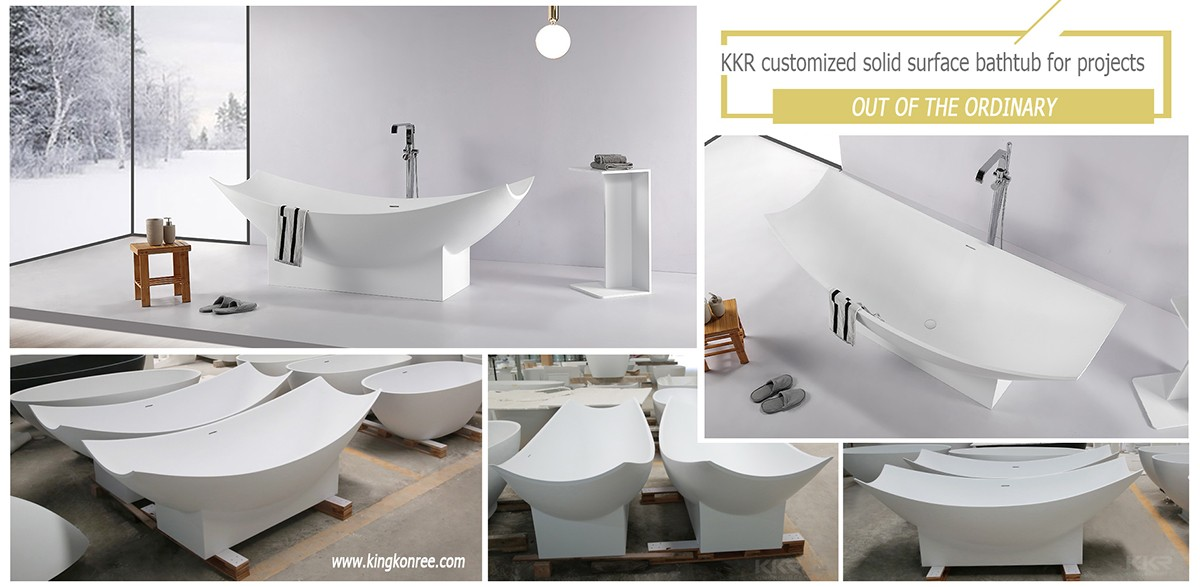KingKonree reliable stone resin freestanding bath custom-14