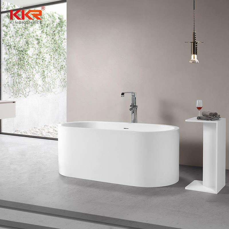 Artificial Stone Elegant Acrylic Solid Surface Bathtub Freestanding