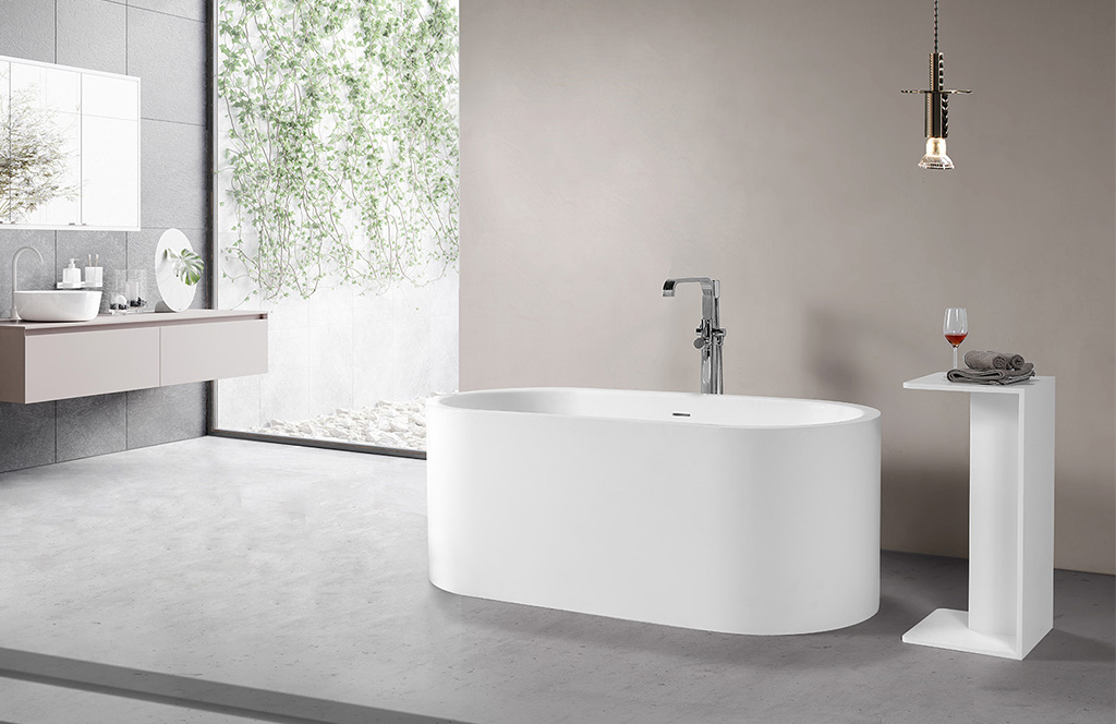 KingKonree matt stone resin freestanding bath at discount for bathroom-1