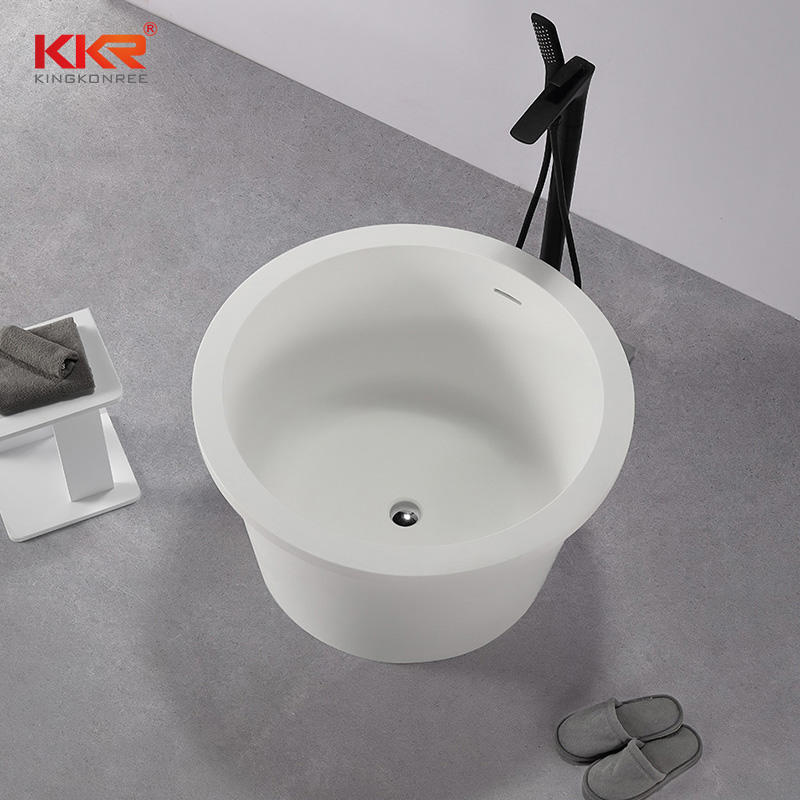 Modern Sanitary Circular Mini Bathtub Freestanding