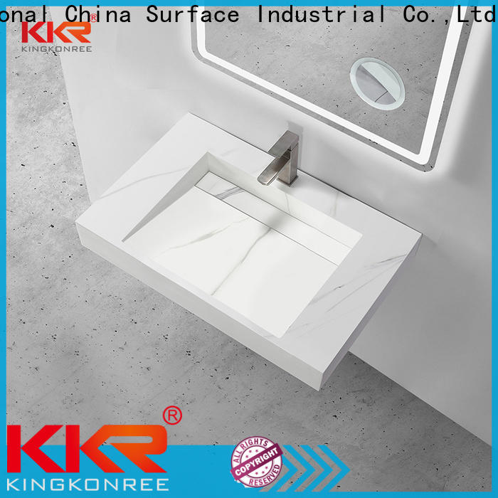 rectangle wall hung basin manufacturer for bathroom