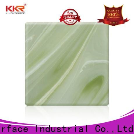 KingKonree quality white solid surface countertops OEM for motel