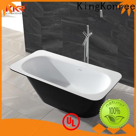KingKonree round freestanding bathtub free design for bathroom