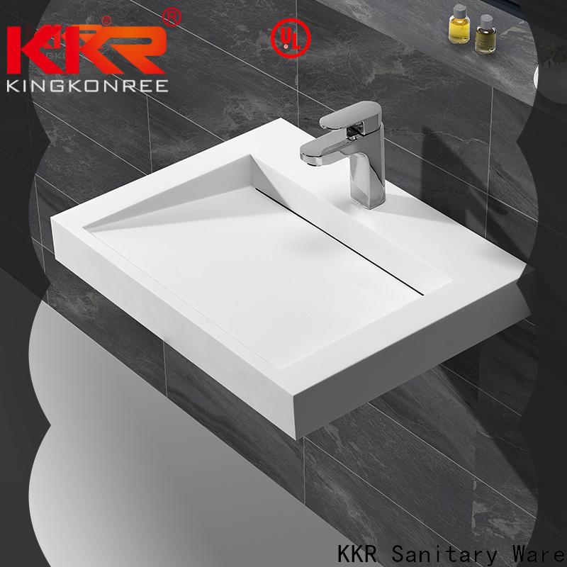 KingKonree bathware small wall hung basin manufacturer for hotel