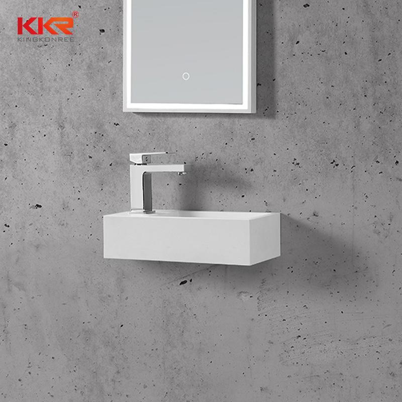 Hot Sales Custom Made Small Size Resin Stone Wall Hung Wash Basin
