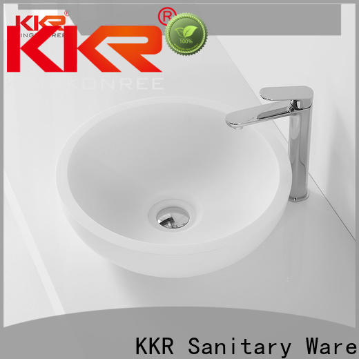 KingKonree marble top mount bathroom sink manufacturer for room