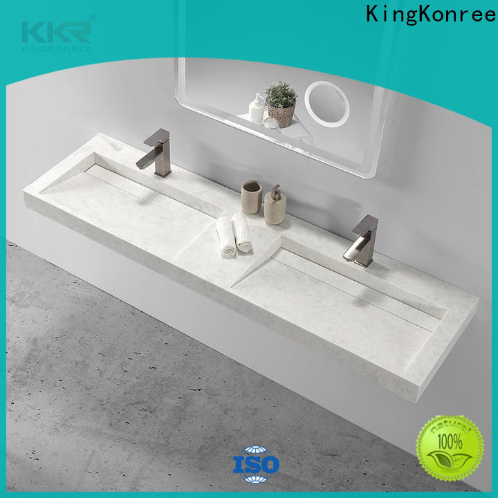 KingKonree fancy wall hung wash basin manufacturer for home