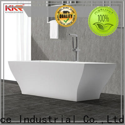 KingKonree hot-sale rectangular freestanding bathtub custom for hotel