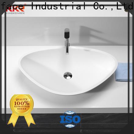 sanitary ware above counter vanity basin design for restaurant