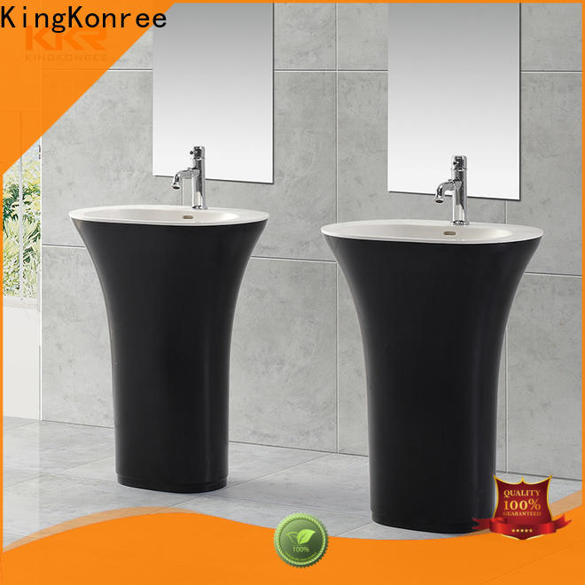 KingKonree acrylic freestanding basin supplier for motel