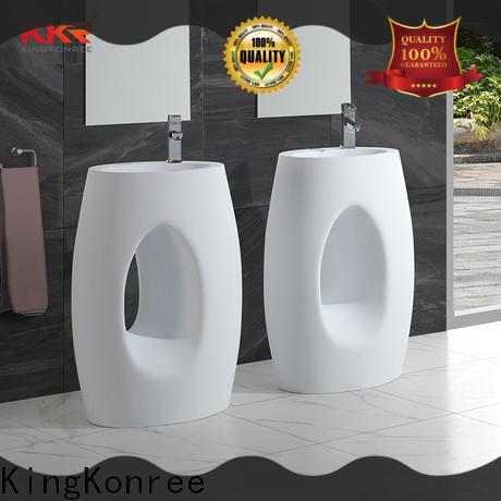 KingKonree artificial free standing wash basin customized for hotel