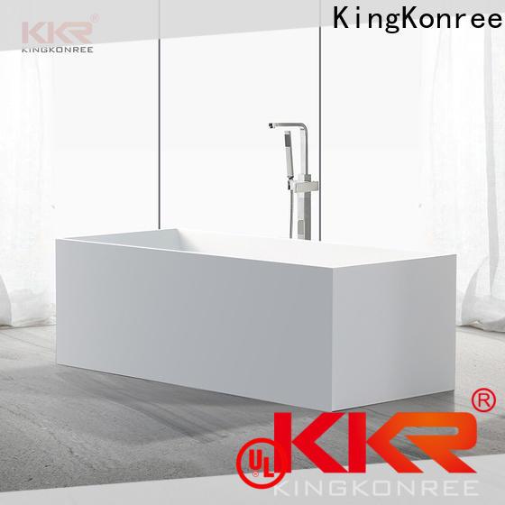 KingKonree rectangular freestanding bathtub free design for hotel