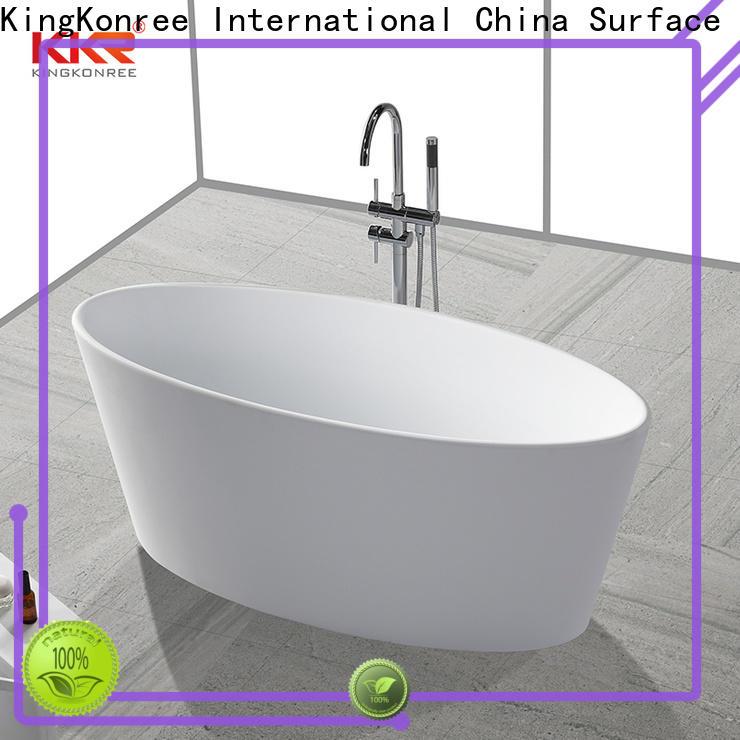 KingKonree freestanding soaking bathtub OEM for bathroom