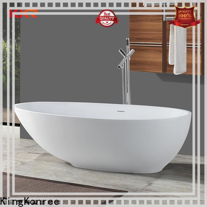 KingKonree marble modern soaking tub at discount for hotel
