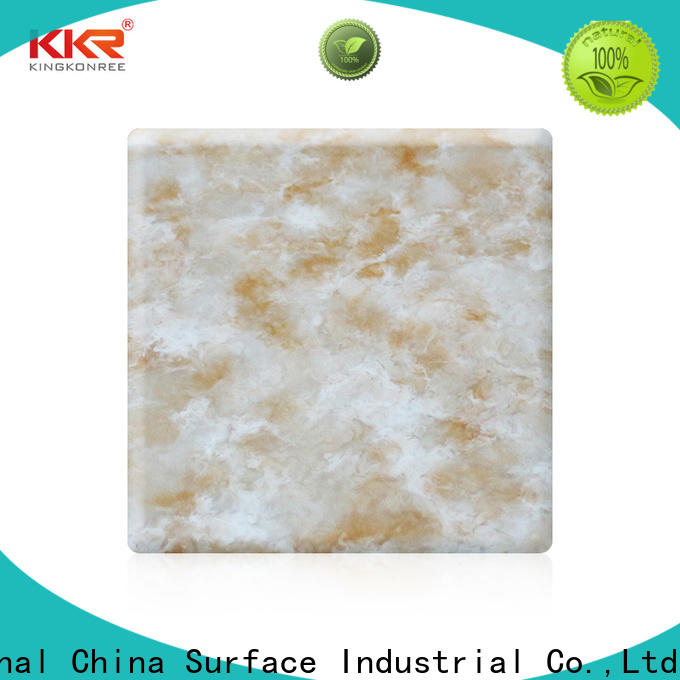 KingKonree quality solid surface sheets for sale from China for hotel