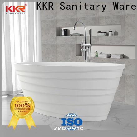 KingKonree finish acrylic clawfoot bathtub custom for family decoration