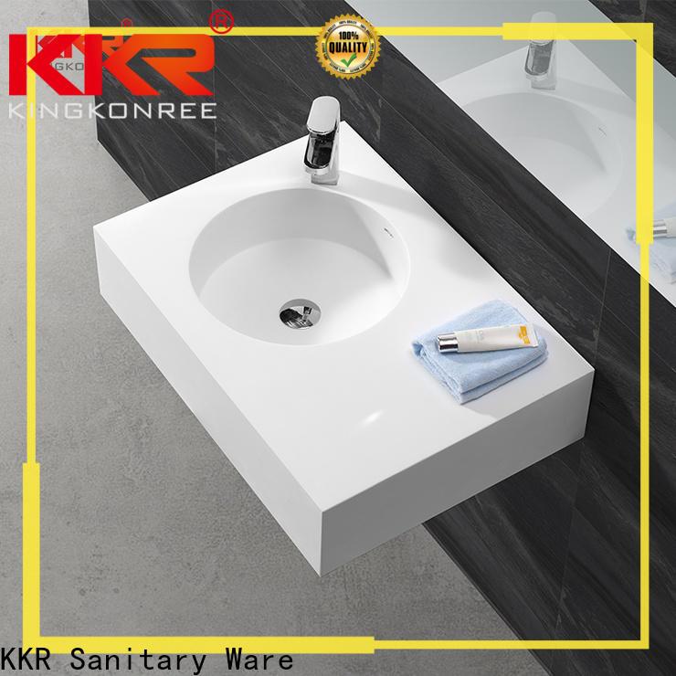 sturdy wall hung vanity basin design for bathroom