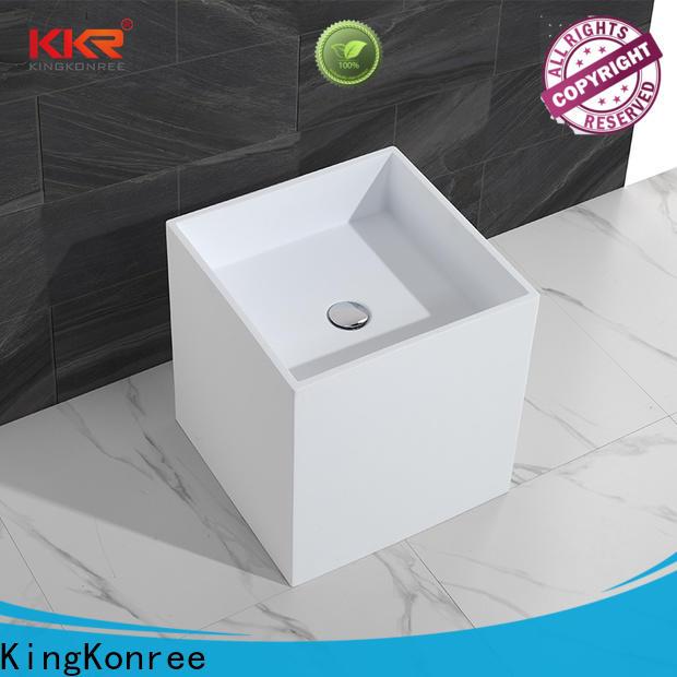 KingKonree rectangle stand alone bathroom sink manufacturer for motel