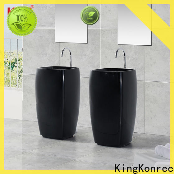 artificial floor standing basin factory price for hotel