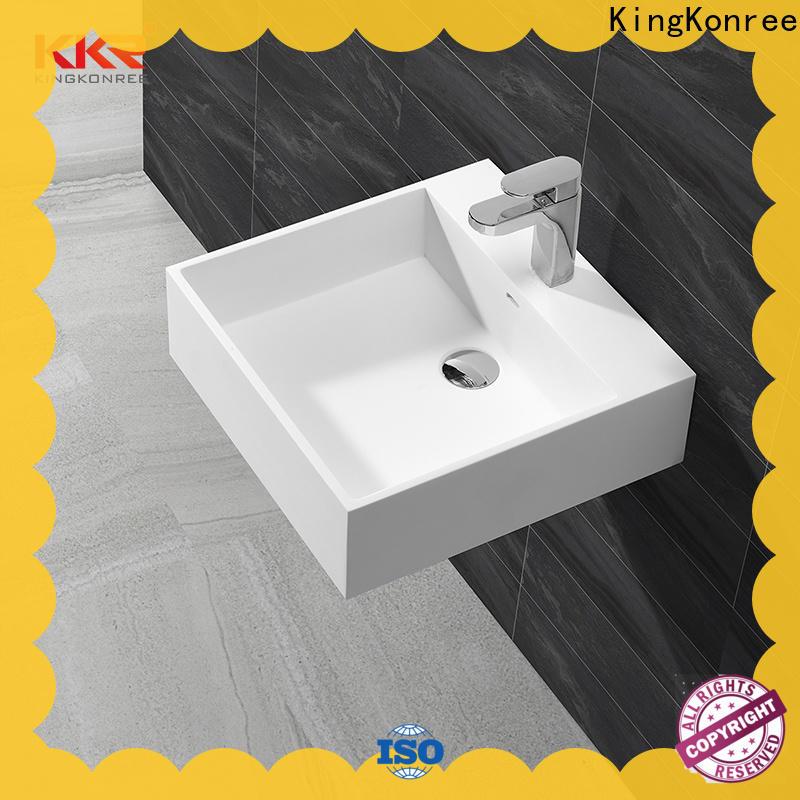 fancy wall hung vanity basin manufacturer for bathroom
