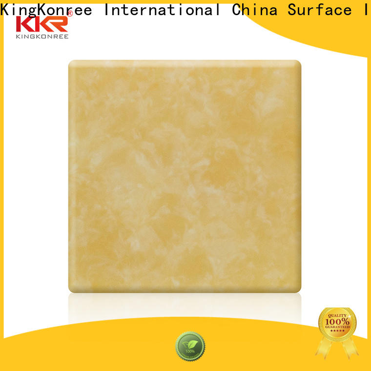 KingKonree quality translucent stone panels price sink for hotel