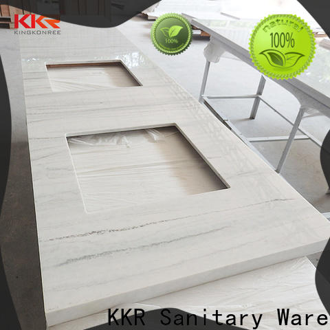 KingKonree royal solid surface bathroom countertops under-mount for hotel
