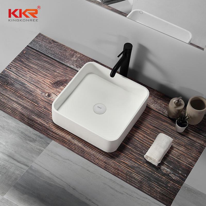 Newly White Handmade Countertop Sinks Bathroom Sanitary Ware Above Counter Basin