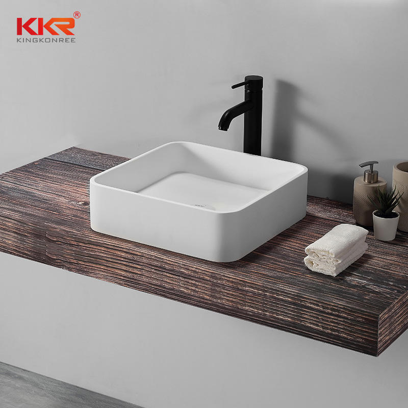 Newly White Handmade Countertop Sinks Bathroom Sanitary Ware Above Counter Basin