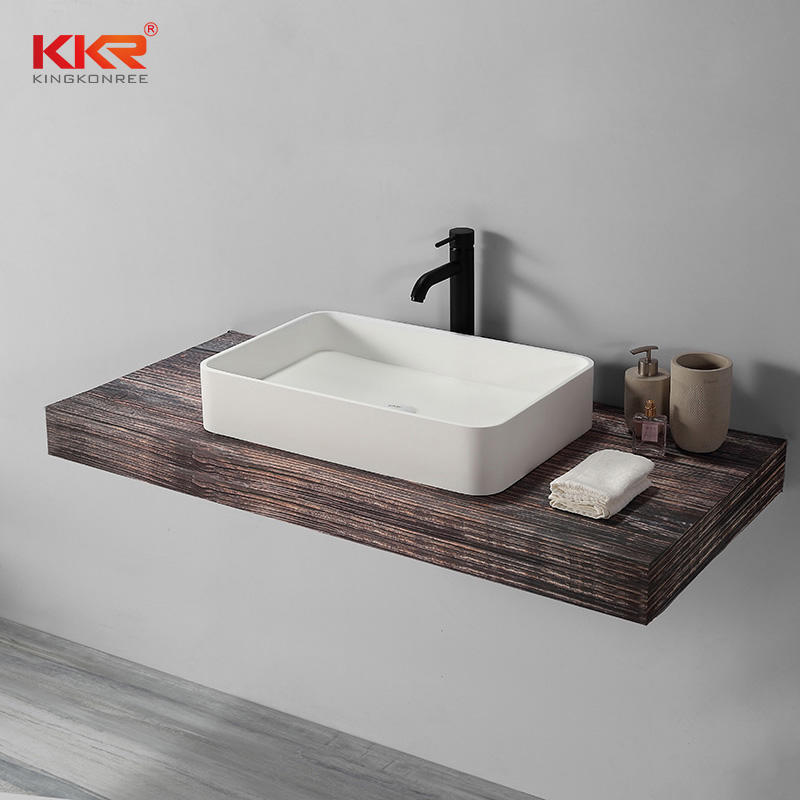 Rectangle Above Counter Wash Basin Bathroom Basin Vanity Sink
