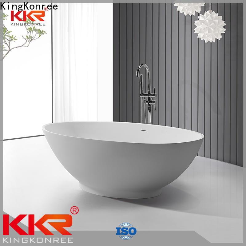 KingKonree hot-sale freestanding soaking bathtub OEM for hotel