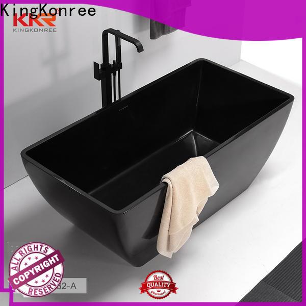 KingKonree black small stand alone bathtub OEM