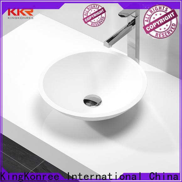 KingKonree small countertop basin supplier for room