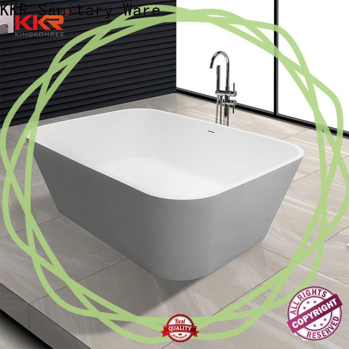 KingKonree marble freestanding soaking bathtub free design for shower room