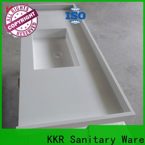 white solid surface bathroom countertops sink for motel