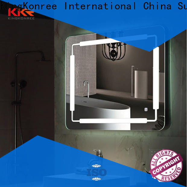 KingKonree modern design large decorative mirrors manufacturer for toilet