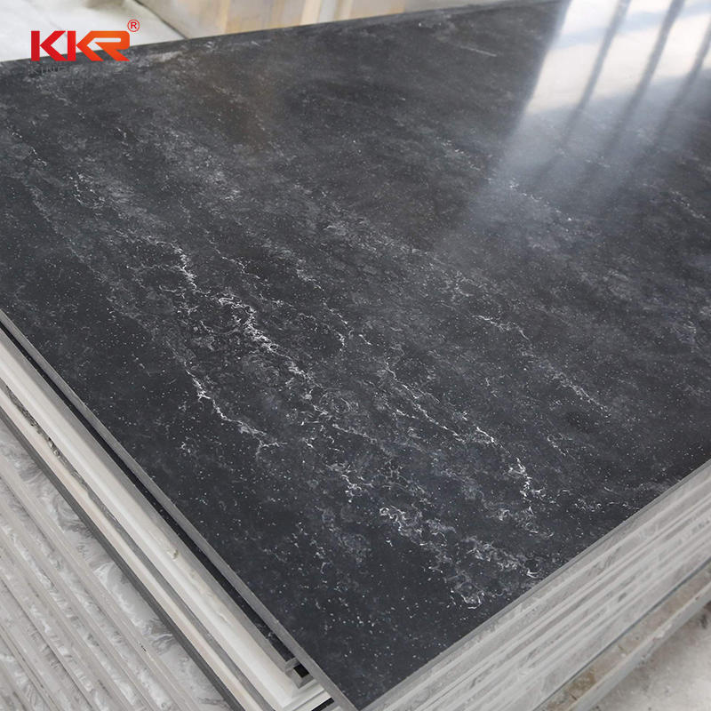 Black Texture Marble Resin Solid Surface Sheet