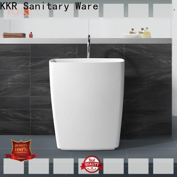 resin free standing wash basin design for motel