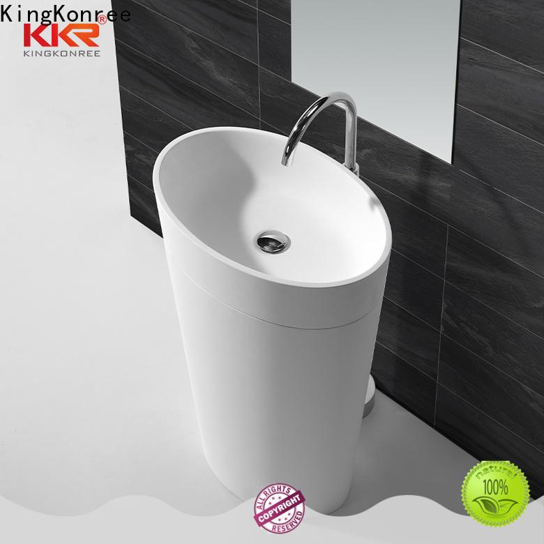 KingKonree artificial freestanding basin manufacturer for motel