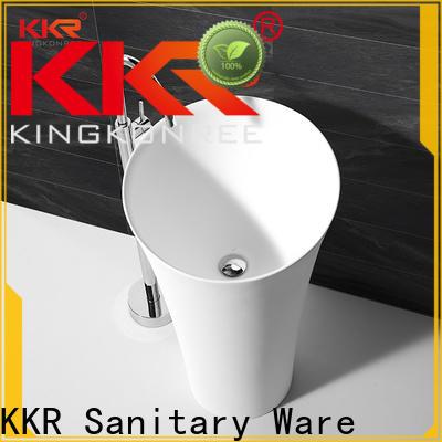 KingKonree gel stand alone bathroom sink supplier for motel