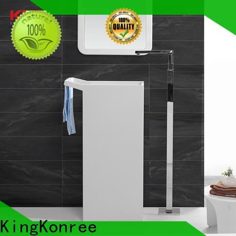 KingKonree solid stand alone bathroom sink manufacturer for hotel