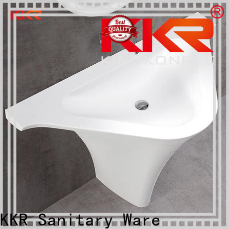 KingKonree marble floor standing basin manufacturer for motel