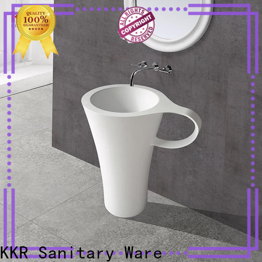 artificial free standing wash basin customized for motel