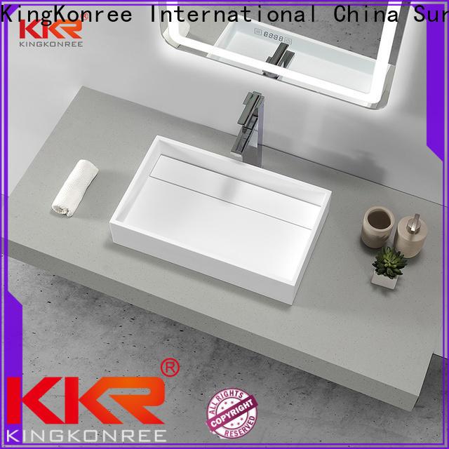 KingKonree durable bathroom countertops and sinks at discount for restaurant