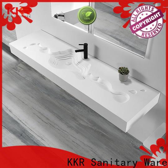 KingKonree marble wall hung basin supplier for bathroom