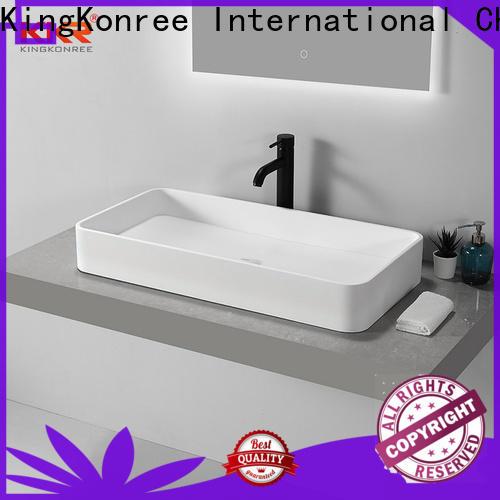 KingKonree top mount bathroom sink customized for room
