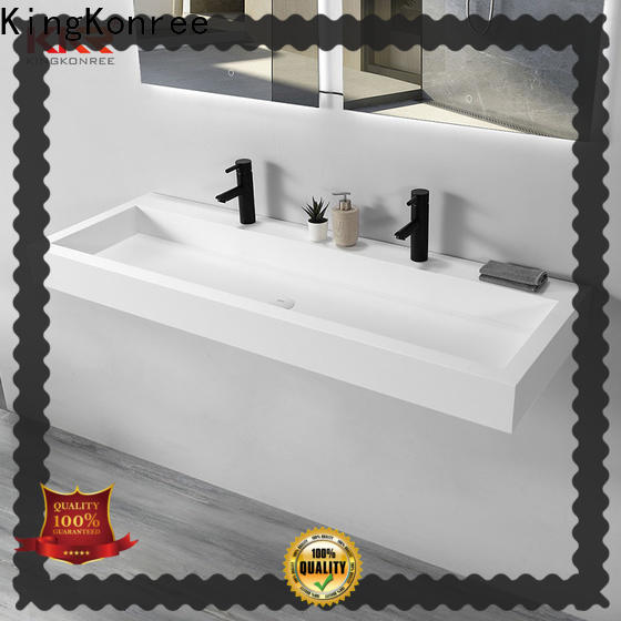 marble small wall hung basin design for hotel