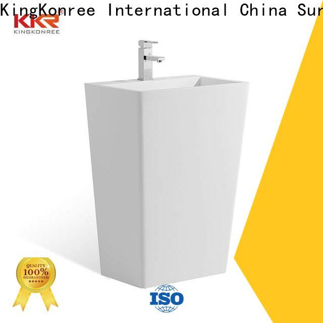 KingKonree resin free standing wash basin customized for bathroom