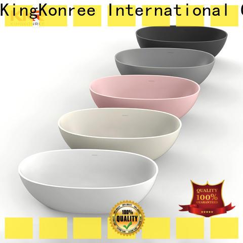 KingKonree solid surface freestanding tub ODM